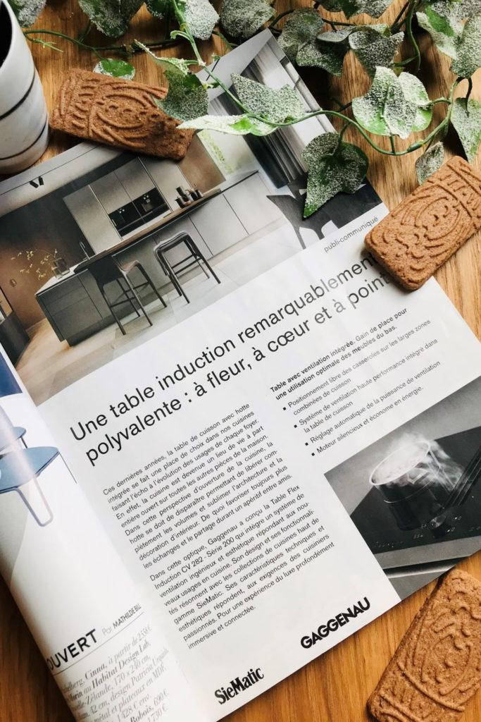 plaque de cuisson avec hotte intégrée gaggenau publi info
