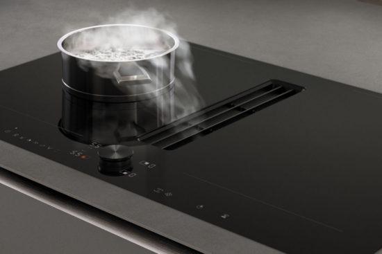 plaque de cuisson avec hotte intégrée gaggenau mwmw